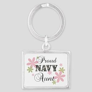 Navy Aunt [fl camo] Landscape Keychain